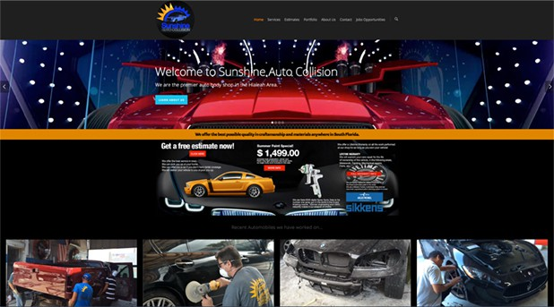 Sunshine Auto Collision Website